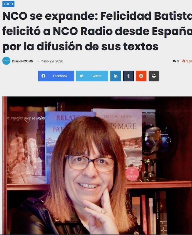 Felicidad Batista Diario Radio NCO Argentina