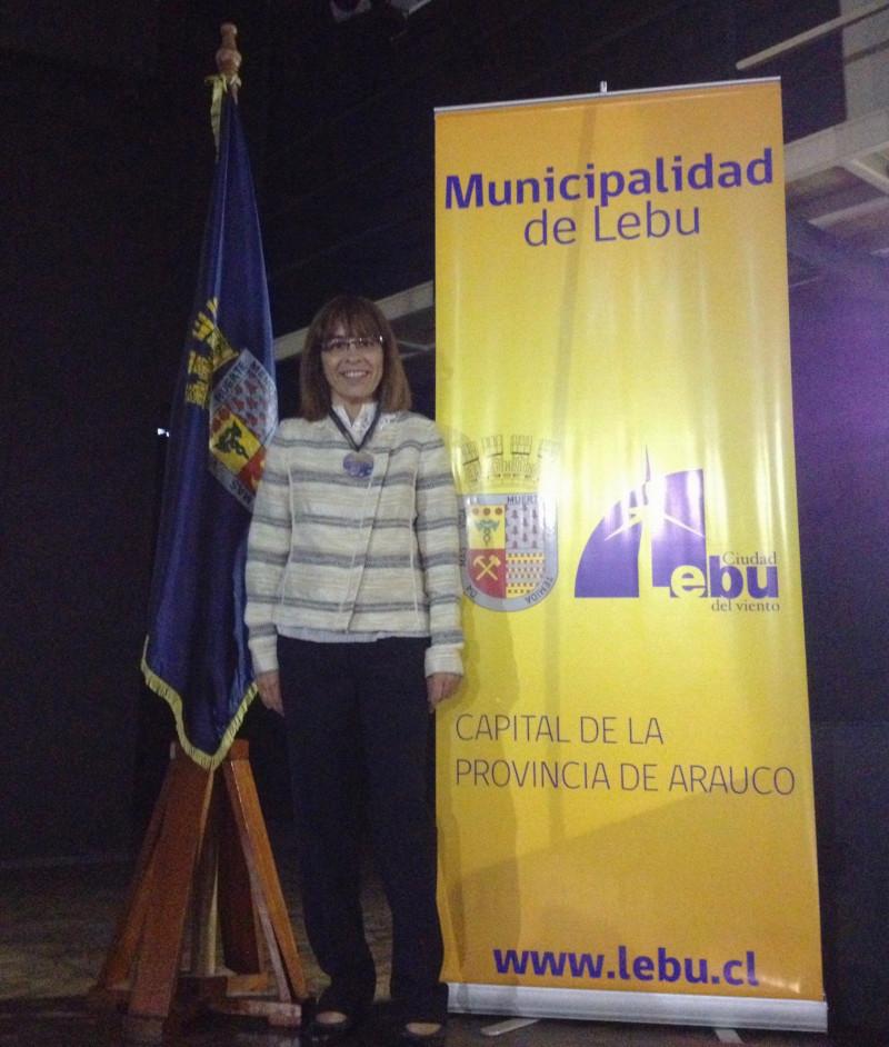 Felicidad Batista Premicación en Lebu  Concurso Lebu en Cien palabras Concurso Gonzalo Rojas Pizarro Chile