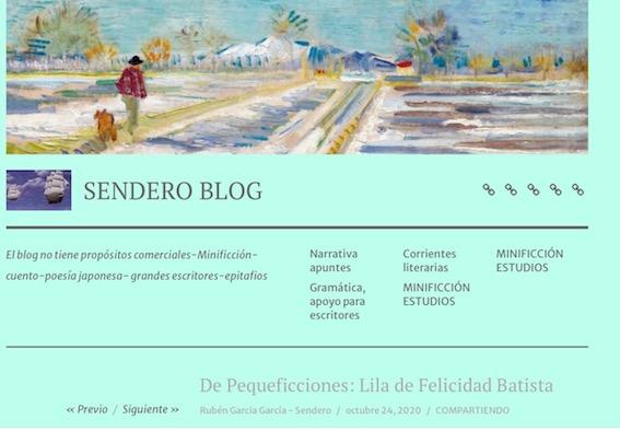 Lila de Felicidad Batista en Sendero Blog de Rubén García García